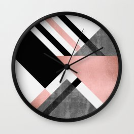 Foldings 2 Wall Clock