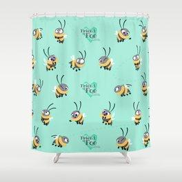Friend Or Foe - Trish Pattern Shower Curtain