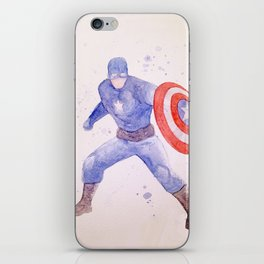 Capt. America Watercolor iPhone Skin