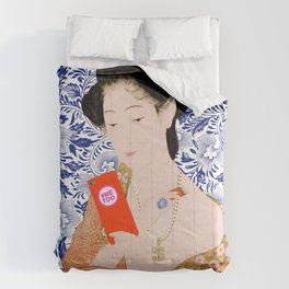 confused timeline with japanese lady Comforters
