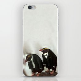 Penguins in tuxedos iPhone Skin