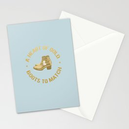 A Heart of Gold and Boots to Match Stationery Cards