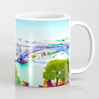 portugal Mugs featuring Porto - Portugal by Louise