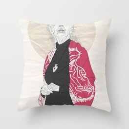 Jane Goodall Throw Pillow