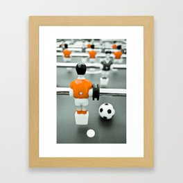 Table Football 02B - Defender - Orange (everyday 30.01.2017) Framed Art Print