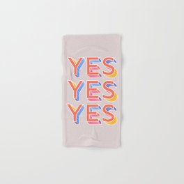 YES - typography Hand & Bath Towel