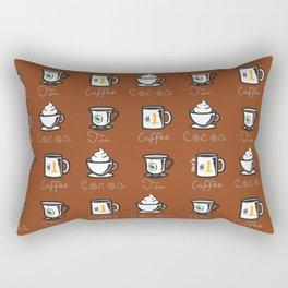 Hot Drinks (Brown) Rectangular Pillow