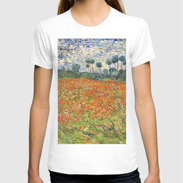 Poppy Field by Vincent van Gogh, 1890 painting T-shirt