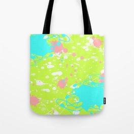 Tropical Ink Splatter Tote Bag