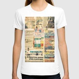 Russian newspapers T-shirt