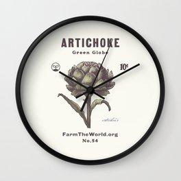 Farm the World Artichoke Seed Packet Wall Clock