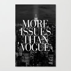 More Issues Than Vogue Black and White NYC Manhattan Skyline Canvas Print