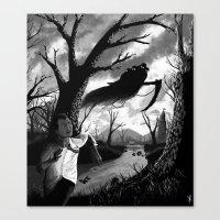 running Canvas Prints featuring Running by Ichorteeth
