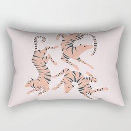 Three Tigers Rectangular Pillow