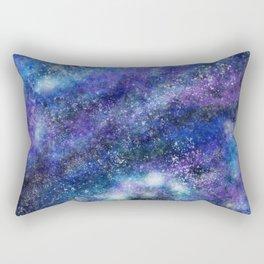 Blue Space Galaxy Rectangular Pillow