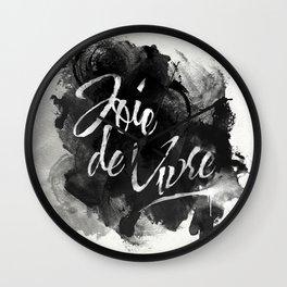 Joie De Vivre Wall Clock