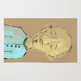 Man In Blue Rug
