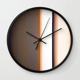 Brown White Dark Blue Ombre Stripes Wall Clock