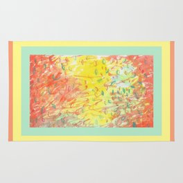 Falling Leaves in Sunlight Watercolour Rug