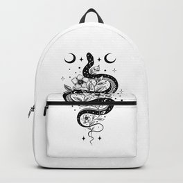 Serpent Spell -Black and White Backpack