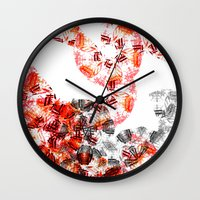 botanical Wall Clocks featuring Botanical by Amy Davis