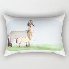 Mother and Son Rectangular Pillow