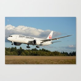 Japan Airlines Boeing 787 Canvas Print