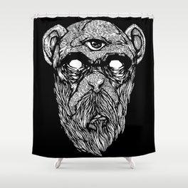 Bearded Ape r2 Shower Curtain
