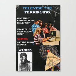 TELEVISE THE TERRIFYING Canvas Print