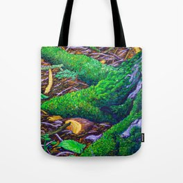 Tree Roots with Moss Tote Bag