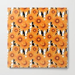 Yellow sunflowers . Metal Print