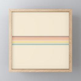 Colorful Fine Line Retro Stripes Framed Mini Art Print