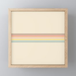 Colorful Fine Line Retro Stripes Framed Mini Art Print