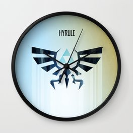 The Legend of Zelda - Hyrule Rising Poster Wall Clock