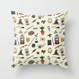 Potter Harry pattern Throw Pillow