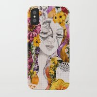 flora iPhone & iPod Cases featuring Flora by Jenndalyn
