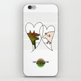 LOVE IN OUR OPINION - LOVE WILL TEAR US APART iPhone Skin
