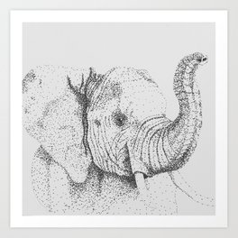 Dotted Elephant Art Print