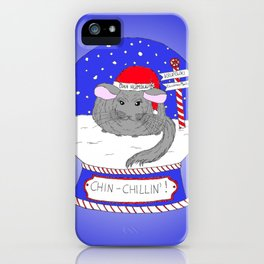 Chin-Chillin' Christmas iPhone Case