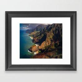Na Pali Coast, Kaua'i, Hawai'i Framed Art Print