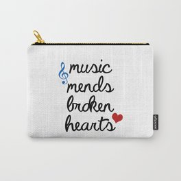 Music Mends Broken Hearts Carry-All Pouch