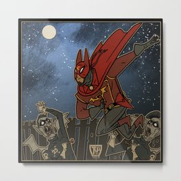 Doctor Chiroptera and the Vampire Mods of Dockside Metal Print