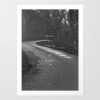 pocketfuel Art Prints featuring Faith not Sight by Pocket Fuel