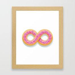 Infinity Donut Framed Art Print