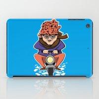 moto iPad Cases featuring Crazy Moto Grandma by Maryanski