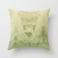 The Giant Winged Lion Throw Pillow