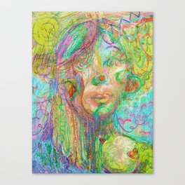 Psychedelic Girl Canvas Print