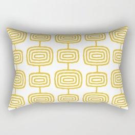 Mid Century Modern Atomic Rings Pattern Mustard Yellow 3 Rectangular Pillow