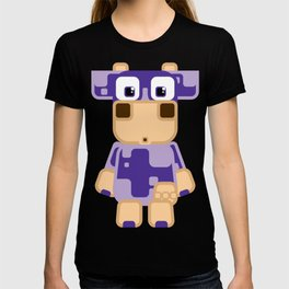 Super cute cartoon cow in purple - a moo-st have design for cow enthusiasts! T-shirt