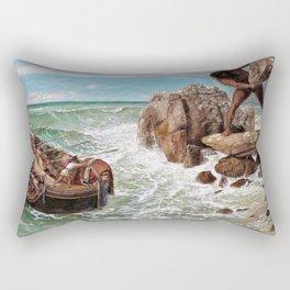 Odysseus And Polyphemus - Arnold Bocklin Rectangular Pillow